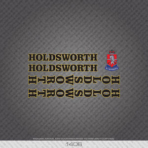 01406 Holdsworth Bicycle Stickers - Decals - Transfers - Black/Gold