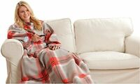 Snuggie Red Plaid Blanket, New, Free Shipping