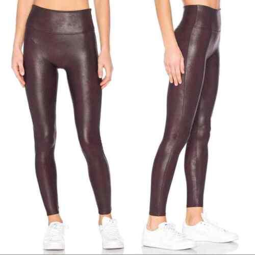 Spanx Faux Leather Leggings Wine M