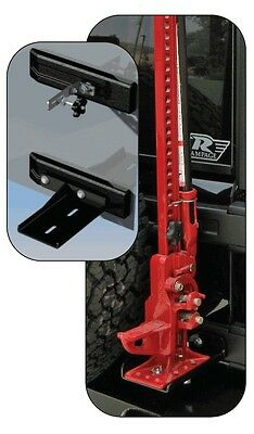 Rampage Hi-Lift Jack Mounting Kit - Black fits 2007-2017 Jeep Wrangler JK 86612