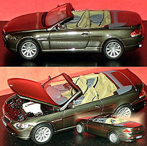 BMW-6-Series-Cabriolet-E64-2003-10-Gray-Grey-Metallic-Stratus-Grey-1-43-Kyosho