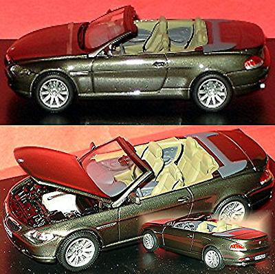 Aspiring Bmw 6 Series Cabriolet E64 2003-10 Gray Grey Metallic Stratus Grey 1:43 Kyosho Automotive Toys, Hobbies