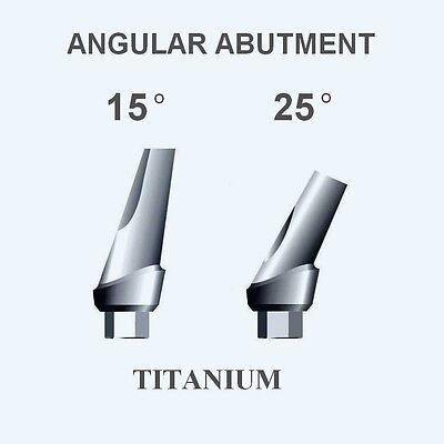 10x ANGULAR Titanium Abutments 15°/25° & SHOULDER for Hex implant system $168
