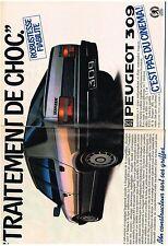 PUBLICITE ADVERTISING    1986    PEUGEOT 309   TRAITEMENT DE CHOC ( 2 pages)