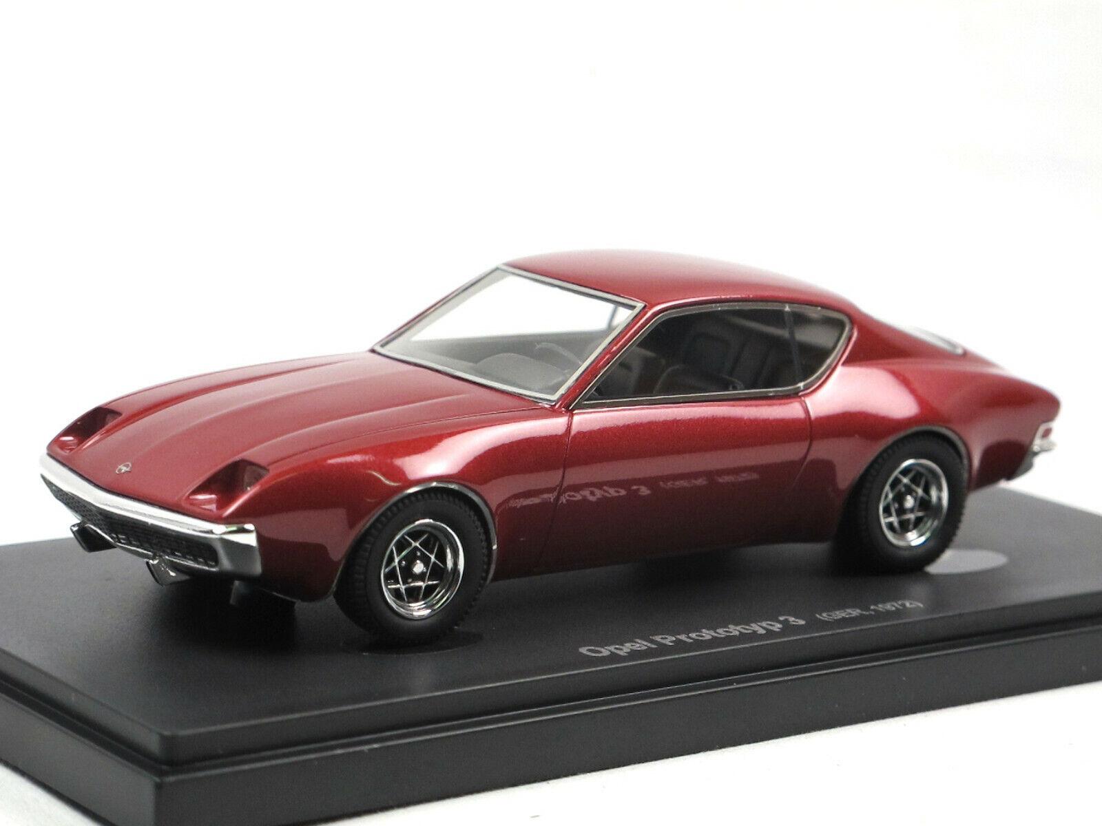 AVENUE 43 autocult 60025 OPEL Prougeotype 3-Opel Manta B étude 1972 Rouge 1 43