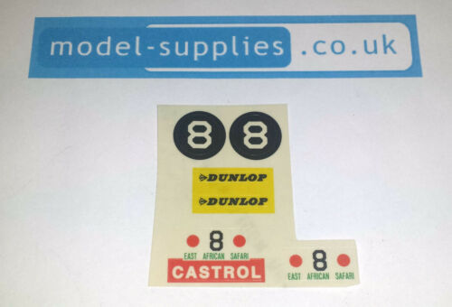 Dinky 212 Ford Cortina Mark 1 Rally Car Reproduction Stickers Set