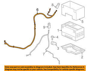 Hummer GM OEM 2008 H2 6.2L-V8 Battery-Positive Cable 12191376