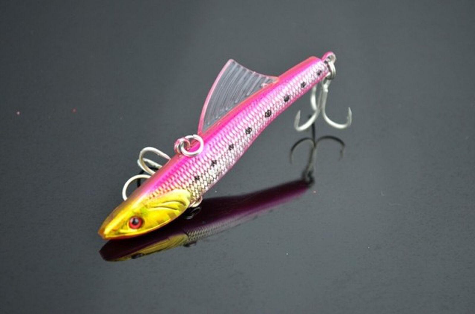 1PCS lure baits 7cm//14g 8.8cm//26g fishing Minnow VIB hook