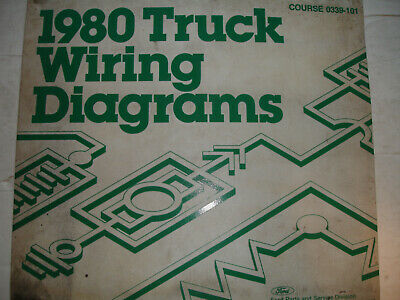 1980 Ford Truck BRONCO Electrical Wiring Diagrams Service ...
