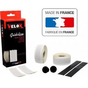 Guidoline blanche soft perforée Velox pour vélo  made en France bicyclette