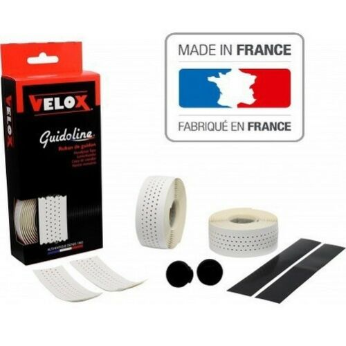 Guidoline blanche soft perforée Velox pour vélo  made en France bicyclette