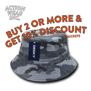 f46818172ec DECKY MENS BUCKET HAT OUTDOOR SAFARI BOONIE SUN HAT HATS CAP CAPS ...