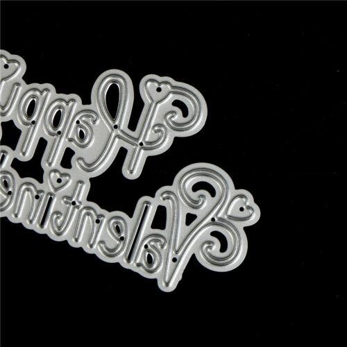 Happy Valentine Day  Metal Cutting Dies For DIY Scrapbook Album Paper Card  DSUK