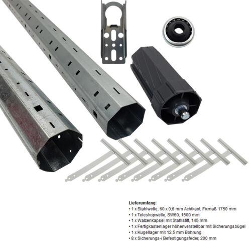 Moteur pour Stores Rollladenwellen-Paket Sw60 Arbre Télescopique Tubulaire Kit