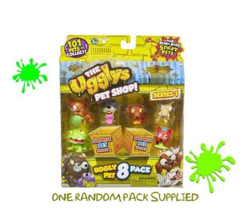 Il Ugglys PET SHOP FIGURINE 8 Pack due sorpresa animali domestici stili variabili