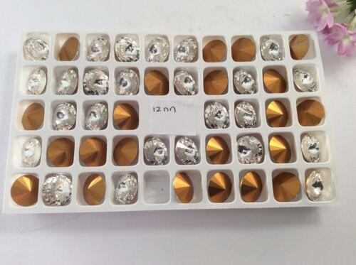 Pedrería RIVOLI Cristal 12mm frustrado Preciosa Checo X 6 Craft Post Gratis