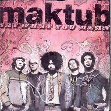 MAKTUB - Say What You Mean, Reggie Watts, NEW