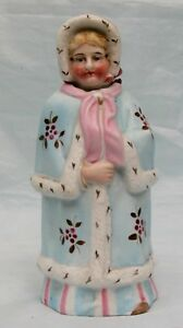 Antique-Victorian-Porcelain-Nodder-Lady-in-Ermine-Fur-Trimmed-Cloak-amp-Bonnet