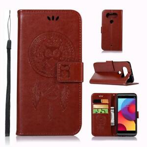 Owl-Pattern-Wallet-Leather-Flip-Case-Cover-Free-Screen-Protector-For-LG-Phones