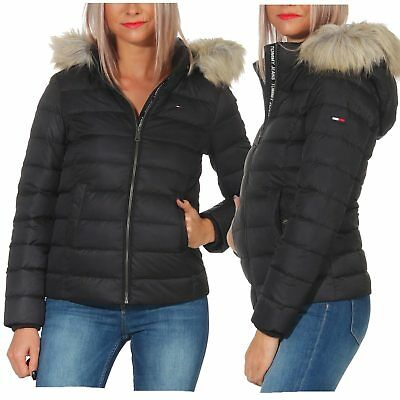 Tommy Jeans Damen Winterjacke Essential Hooded Jacke
