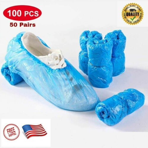 100 PCS Waterproof Boot Covers Disposable Shoe Cover Big Size Protect Overshoes