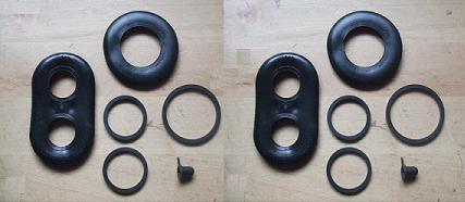 x2 ASTON MARTIN DB5 DB6 DBS /& V8 Rear Brake Caliper Repair Seals Kits 63-77