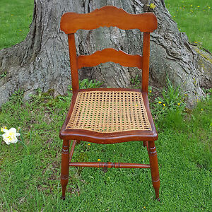 Image Is Loading 19th C Antique TIGER MAPLE Side Chair HAND