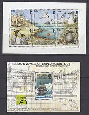 South Georgia Sc 219, 230 MNH. 1998-1999 Souvenir Sheets, VF