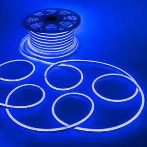 Details About Wyzworks Blue Flexible Waterproof Soft Single Sided Led Neon Rope Light