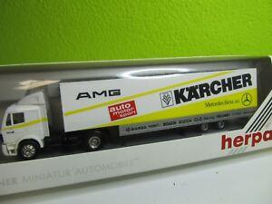 131HO-538-Herpa-867013-MB-Sattelzug-AMG-Motorsport-Kaercher-top-in-OVP