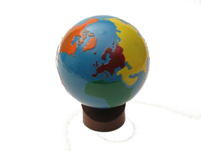 CLEARANCE NEW Montessori Geography - GLOBE of World Parts (Painted Globe)