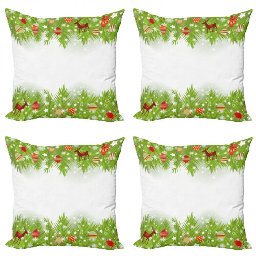 Ambesonne Ethnic Details Cushion Cover Set of 4 for Couch and Bed in 4 Sizes