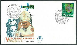 1982 Vaticano Viaggi Del Papa Svizzera Ginevra - Sv Officiel 2019