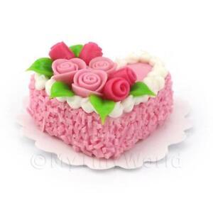 Casa De Muñecas En Miniatura Verde Y Rosa Rosa Pastel