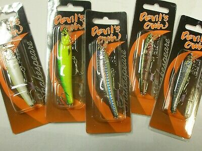 Shakespeare Devils Own 4pc Spinner Collection ALL TYPES Pike Lure fishing tackle