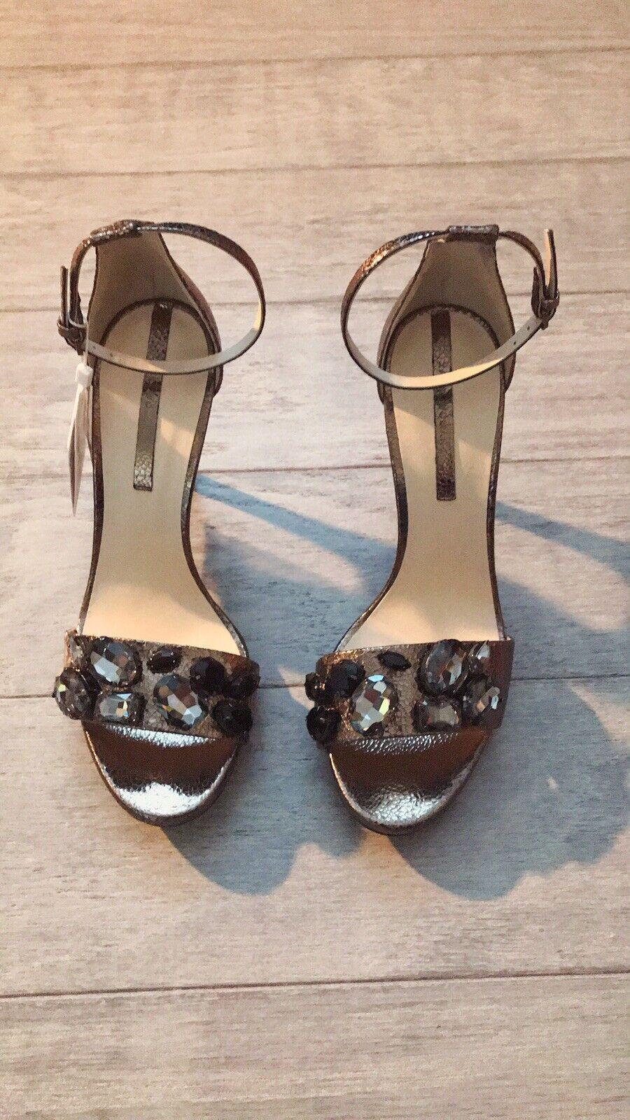 Zara mujer Sandalia de tacón alto (gris, Estados Unidos 7.5 EUR 38)
