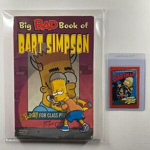Big Bad Book of Bart Simpson Comic Book by Matt Groening & Bartman Topps Card!