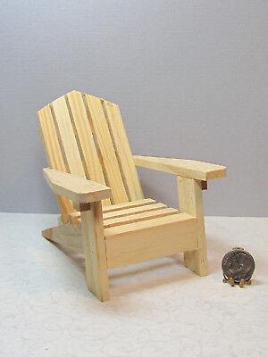 Miniature Dollhouse FAIRY GARDEN ~ Sea BEACH Lake Yellow Resin Adirondack Chair