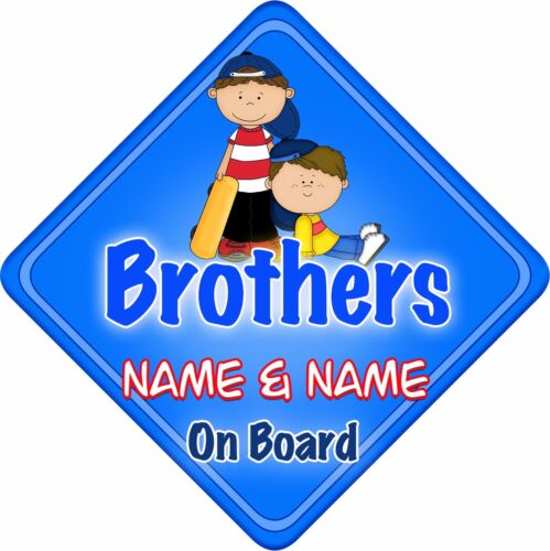 Brothers Car Sign Like Baby//Child On Board BigBro Blue