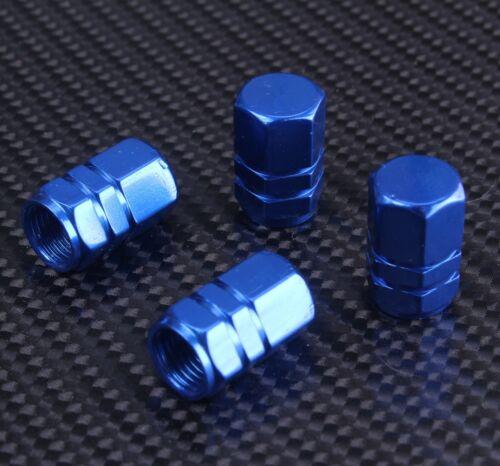 Aluminium Valve Dust Caps Car Bike Van BMX Dustcaps Metal For Him Blue Red Black