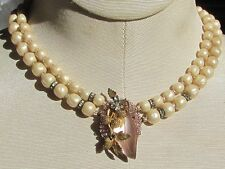 VINTAGE UNSIGNED MIRIAM HASKELL OR VENDOME STYLE 2 Strand Necklace
