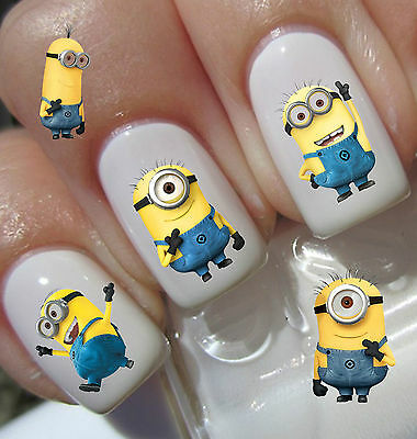 40 MINIONS 2  DESPICABLE ME Nail Art Decals Stickers Water Transfers Wraps