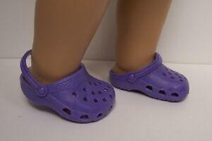 7d9a3614108f19 DK (Dark) LAVENDER Kroc Duc Sandal Clogs Doll Shoes For 18