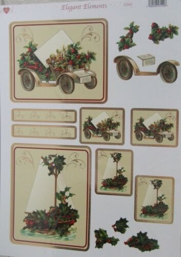Christmas Card Toppers Car and Boat-Elegant Elements