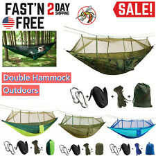 Outdoor Camping Mosquito Net Hammock Tent Nylon Double Hanging Bed Swing Chair