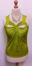 BEAUTIFUL NEW LADIES DEBENHAMS BUTTERFLY BY MATHEW WILLIAMSON GREEN TOP SIZE 14