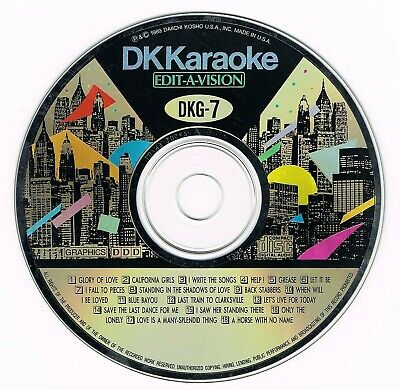 100% True Dk Karaoke Dkg-07 Rare Original Edit-a-vision Cd+g Origina Sufficient Supply Out Of Print!!
