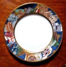 """Grande assiette plate """"Paris"""" en porcelaine BERNARDAUD Limoges """"METROPOLES"""""""