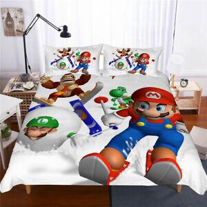 Edredon De Mario Bros.Nordica Para Skiing Bros Super Funda Almohada Juego Cama De 3d Funda