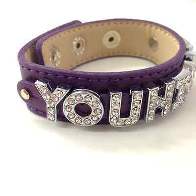 Unique Inspired Rhinestone Or Make Your Own Name Bracelet Up To 8 Letters Ebay